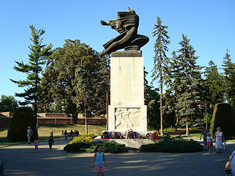 Francophile - Monument of gratitude to France for help in World War I in center of Belgrade, Belgrade Fortress