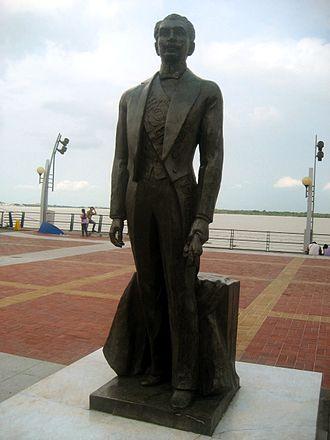 Alfredo Baquerizo - Statue in Malecón, Havana