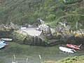 Moorings at Porth Clais - geograph.org.uk - 1515885.jpg