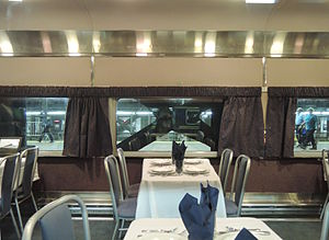 Morristown and Erie Railway - Image: Morristown & Erie dining car inside GCM Po T jeh