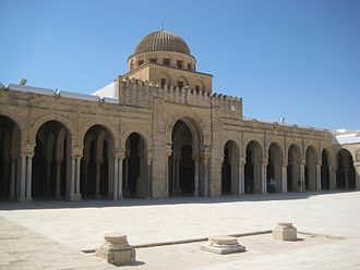 Maliki - Image: Mosque of Oqba Courtyard, Kairouan