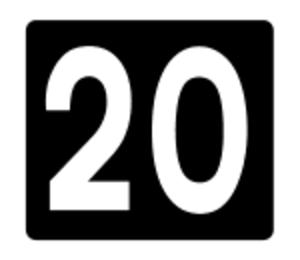 R132 road (Ireland) - Image: Motorway Exit 20 Ireland