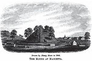 Mound Cemetery (Marietta, Ohio) - Image: Mound Cemetery 1846