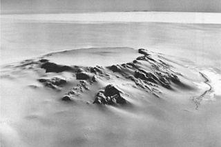 Mount Hampton Shield volcano in Antarctica