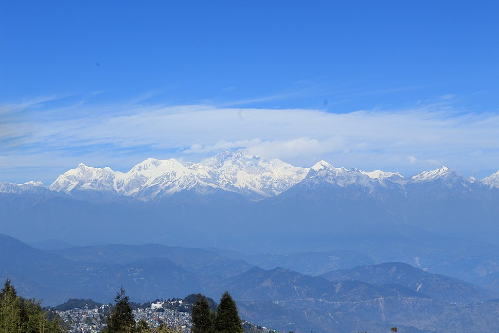 Mount Kangchenjunga seen from Tiger Hill