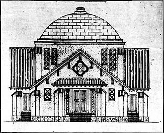 Mount Thompson crematorium - Image: Mount Thompson Crematorium, plans for front elevation, 1932