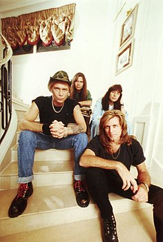 I Mr. Big nel 1992. Da sinistra Billy Sheehan, Paul Gilbert, Eric Martin, Pat Torpey (in basso)
