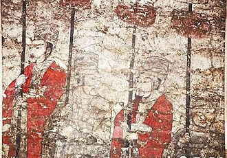Northern Qi - Mural painting from the tomb of Kao Yang.