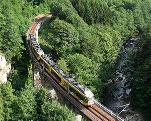 Forbach (Baden) - Bridge of the Murg Valley Railway near Forbach