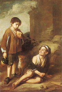 Murillo Bartolome Esteban-Two Peasant Boys Dulwich.JPG
