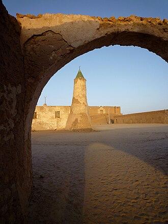 Murzuk - Fort and mosque of Murzuk