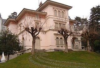 Art museum in boulevard des Côtes, Aix-les-Bains