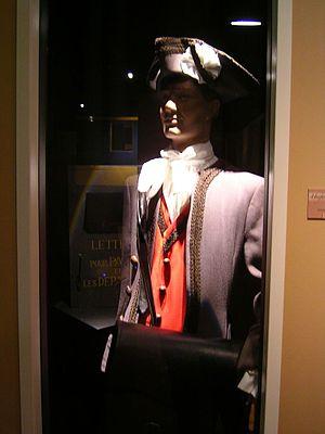 Musée de La Poste - The uniform of an 18th-century French postman