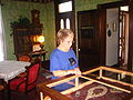 Museum guide Martha Crow at White-Pool House, Odessa, TX Picture 1844.jpg