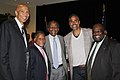 Mychal Thompson, Sidney Poitier, and Rick Fox at the Poitier Recognition Dinner.jpg