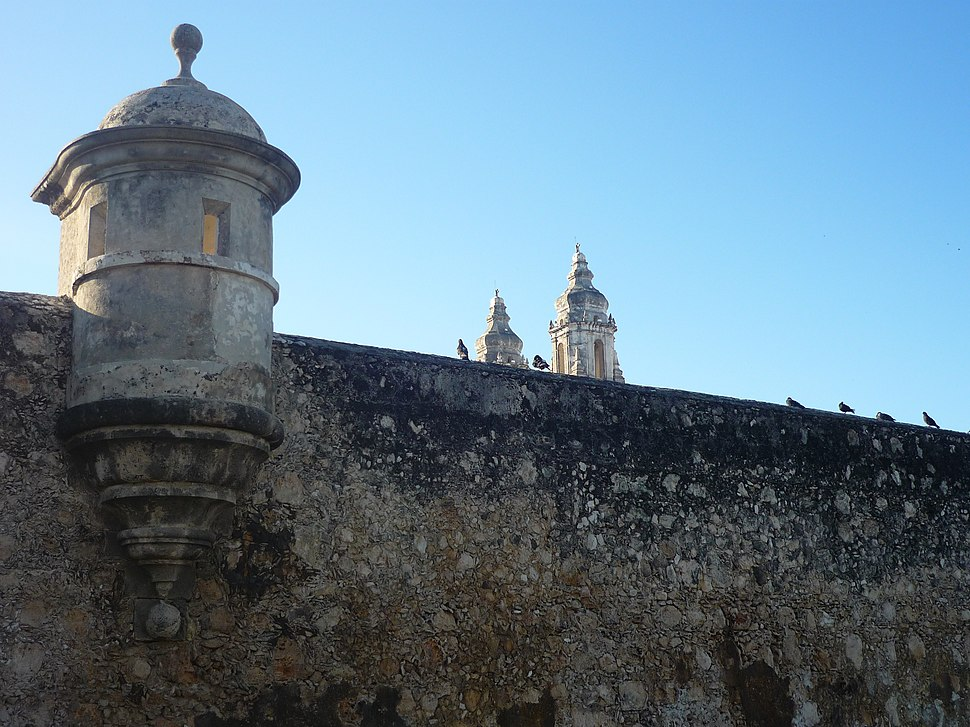Part of the wall in San Francisco de Campeche, a UNESCO World Heritage Site