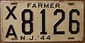 NEW JERSEY 1944 -FARMER LICENSE PLATE - Flickr - woody1778a.jpg