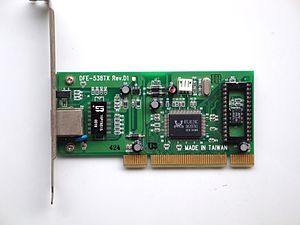 Ethernet card on RTL8139C controller. This is ...
