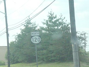 New Jersey Route 120 - Shield for northbound Route 120.