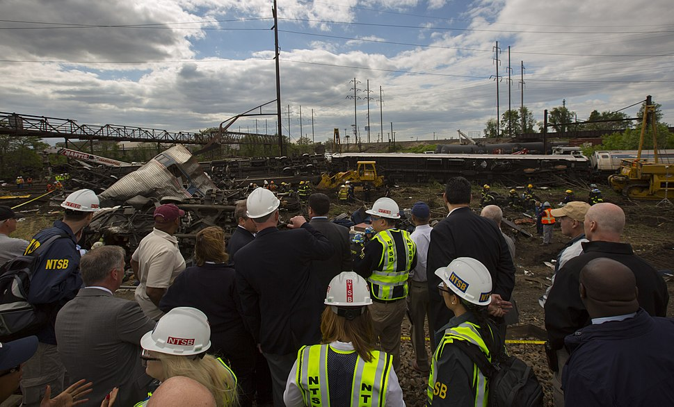 NTSB 2015 Philadelphia train derailment 1