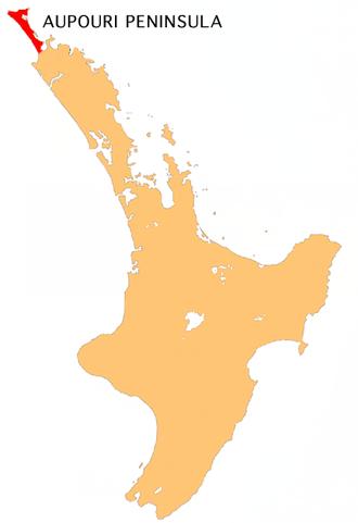 Aupouri Peninsula - Location of Aupouri Peninsula