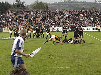 2007 Under 19 Rugby World Championship - The New Zealand vs South Africa 2007 Under 19 Rugby final at Ravenhill