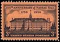 Nassau hall 1956 US stamp.jpg