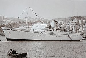 MV Bianca C - Bianca C On Her First voyage with Costa is off the coast of Genova in 1959