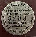 Nebraska 1910 License Plate Disc.jpg
