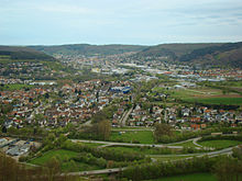 Neckarelz front and mosbach back in the river elz valley