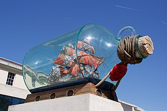Fourth plinth, Trafalgar Square - Image: Nelson's Ship in a Bottle 03