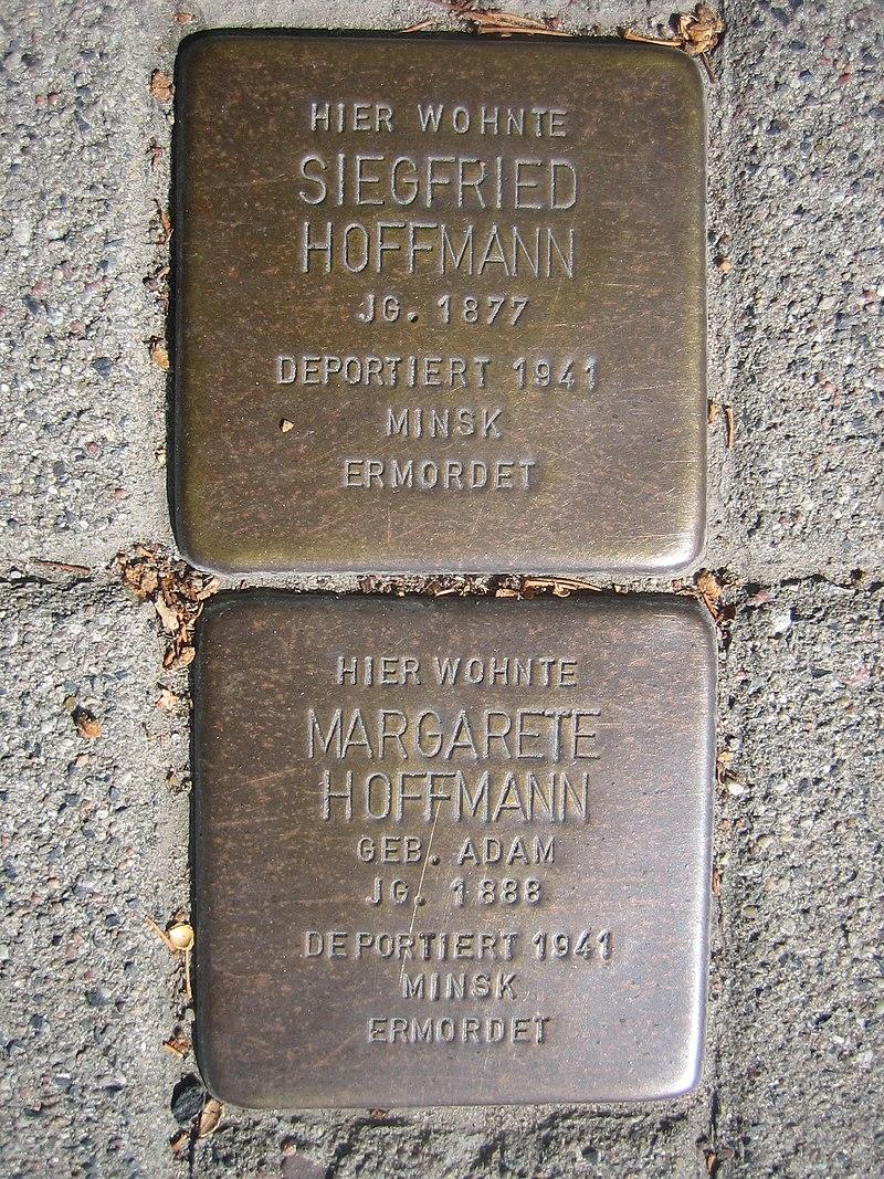 Stolpersteine für Margarete und Siegfried Hoffmann