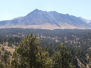 Nevado de Toluca National Park - View of the volcano from the trailhead