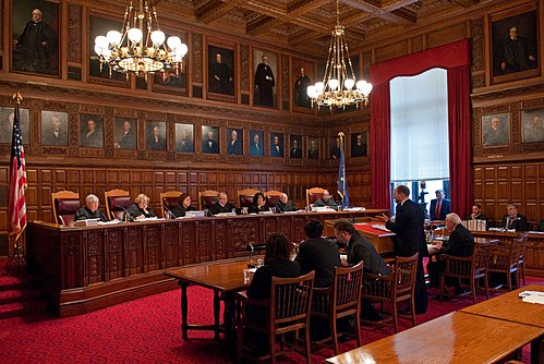 Oral arguments being made before the New York Court of Appeals. New York Court of Appeals hearing oral arguments.jpg