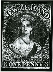New Zealand's First Stamp (9308250167).jpg