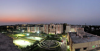 Jawaharlal Institute of Postgraduate Medical Education and Research - A view of New resident doctor hostel complex
