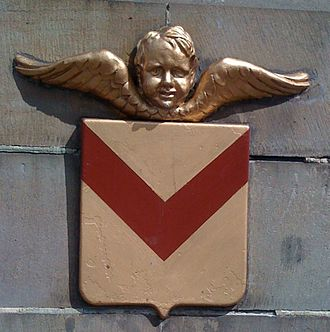 Coat of arms of Newport - Image: Newport Bridge cherub