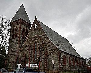 Evangelical Baptist Church (Newton, Massachusetts) - Image: Newton MA Evangelical Baptist Church