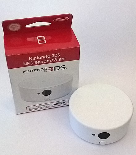 A Nintendo 3DS NFC Reader/Writer, which enabled Amiibo for the 3DS, 3DS XL and 2DS Nintendo 3DS NFC Reader Writer.jpg