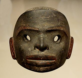 Nisga'a - Mask with open eyes, worn during winter halait ceremonies, 18th–early 19th century
