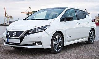 Nissan Leaf Compact five-door hatchback electric car
