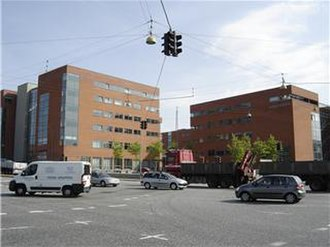 Aarhus N - Nobelparken, a relatively new department of Aarhus University.
