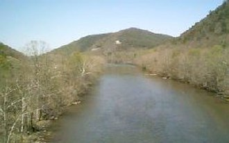 Nolichucky River - The Nolichucky River at Embreeville, Tennessee