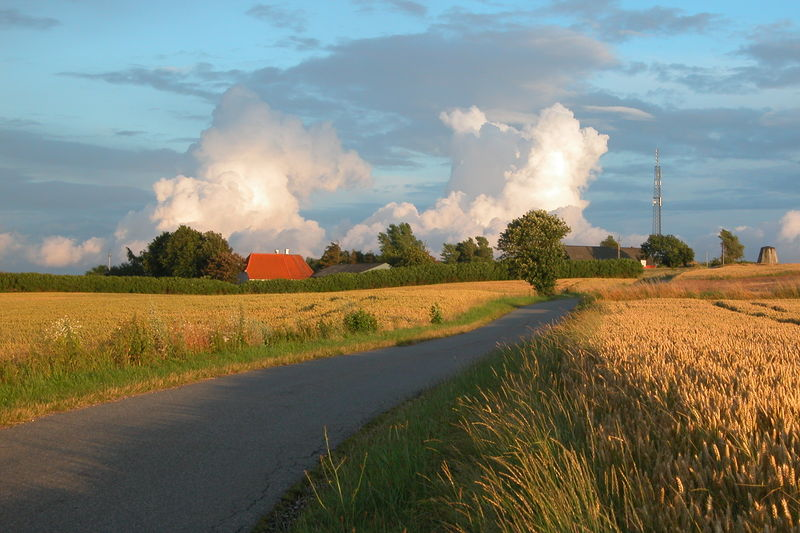 Landscape to the north of the village Bregninge on Ærø island, Denmark.
