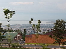 Norra Tanganyikasøen set fra Kiriri, Bujumbura.