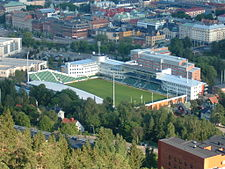 The stadium Idrottsparken.