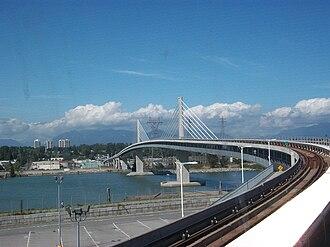 Canada Line - Canada Line bridge over the Fraser River