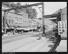 North Fork is about four miles from Gilliam Mine. North Fork, McDowell County, West Virginia. - NARA - 540807.jpg