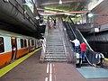 Northbound Orange Line train at Jackson Square station, July 2016.JPG
