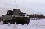Norwegian CV9030N in snow